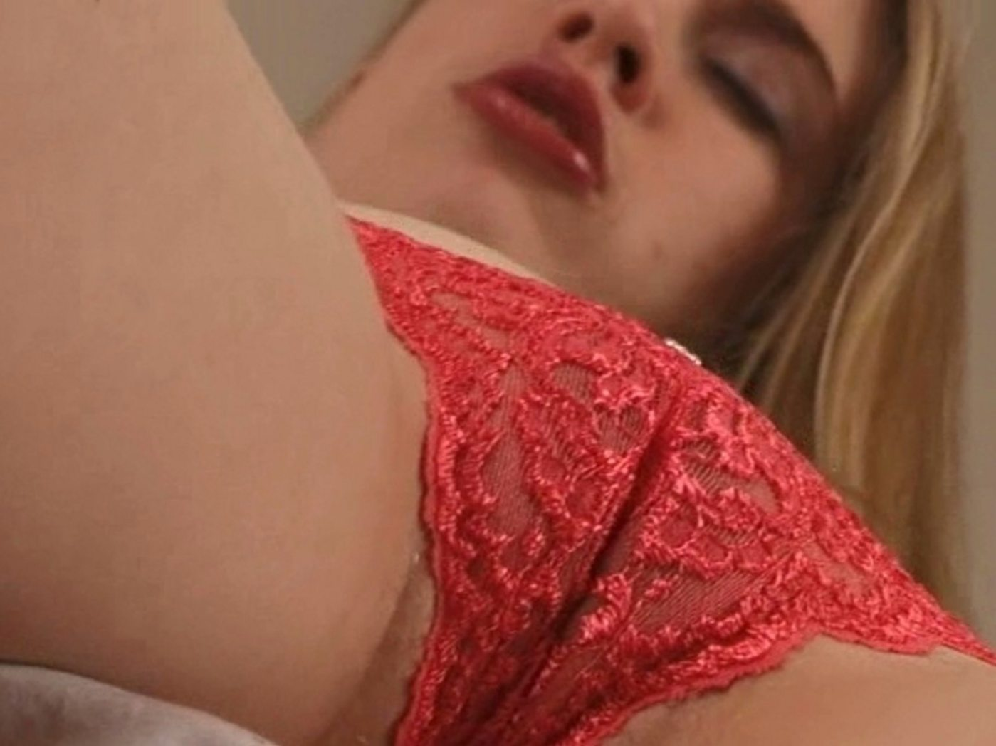 Lick pussy red panties excited