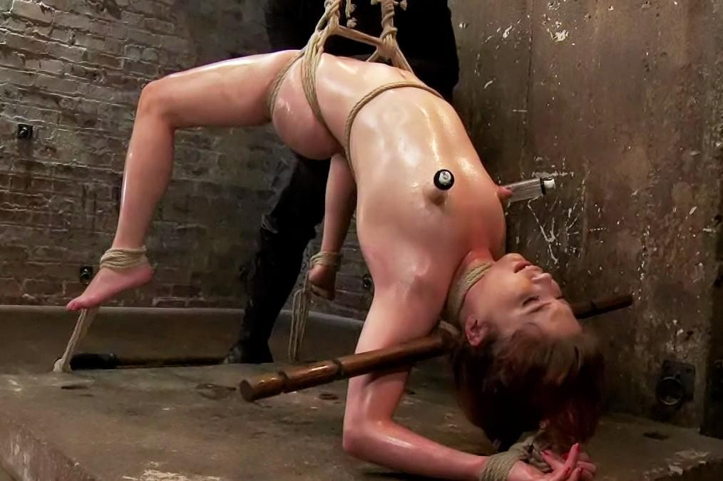 naked girl prepared for her execution